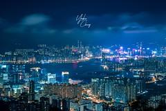 SKYSCRAPER (YAN.0923) Tags: aisa town neonlights cityview xf50230 xt20 fujifilmhk fujifilm photography photo nightshooter nightshoot night landscape landscaping city skyscraper hongkong kong hong