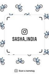 example of nametag for Instagram (Sasha India) Tags: instagram nametag instatag tag name sashaindia дизайн qrcode design 設計 디자인 التصميم σχέδιο डिज़ाइन வடிவமைப்பு desenhar projekt עיצוב desain bicycle velocipede bicicleta 自転車 自行車 자전거