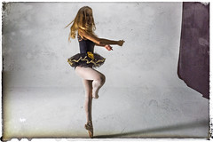 dancer 01 (Mark Rigler -) Tags: pretty cute sweet young fun girl woman dancer ballet ballerina studio white background black tutu sensuality ethereal femininity girlishness womanliness