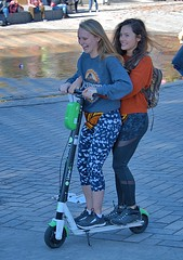 Electric Scootering (Scott 97006) Tags: double trouble girls females young ride scooter electric fun cute recreation smiles excitement