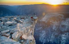 On the top of the top of Half Dome (luvi) Tags: halfdome yosemite climbing drone dji rock mountain sf california usa