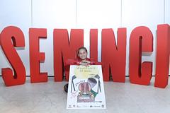 #63Seminci - Laura Vallinas y el cartel de Miniminci 2018 (SEMINCI) Tags: valladolid seminci cine