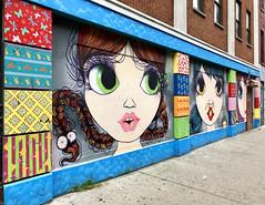 Making Faces by Nina Pandolfo (wiredforlego) Tags: graffiti mural streetart urbanart aerosolart publicart manhattan eastvillage newyork nyc ninapandolfo