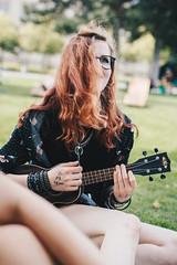marina. (lichtermusik) Tags: musician girl ukulele happy singing alternative emo