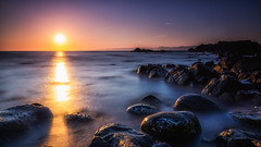 sunset and the ocean (bjorns_photography) Tags: landscape sunset ocean water rock view long exposure photography clear sky