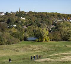 Hampstead Heath (London Less Travelled) Tags: uk unitedkingdom britain england london hampstead highgate city urban suburb suburbia heath pond skyline