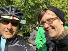 Selfie with Mathilde (Mr.TinDC) Tags: people friends cyclists dccx mathilde ted me mrtindc selfie