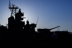 USS Iowa (Laveen Photography (aka cyclist451)) Tags: laveenphotography ussiowa battleship museum portoflosangeles scenic silhouette ca california sanpedro losangeles unitedstates us