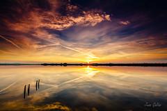 Laguna de San Pedro del Pinatar (Juan Galián) Tags: spain sky sea sunset salinas water landscape seascape murcia mar mediterráneo marina mediterranean nubes clouds paisaje playa puestadesol cielo