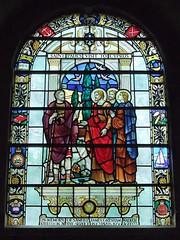 St. Mary's Church, Charlton Marshall, Dorset (Living in Dorset) Tags: stainedglasswindow churchwindow church window stmaryschurch charltonmarshall dorset england uk gb stpaul cyprus cyprusemergency 1956 royalleicestershireregiment samueljamesgreshamwalker memorial