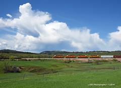 Sweet Sounding SD's (GRNDMND) Tags: trains railroads rapidcitypierreeastern rcpe locomotive emd sd402 whitewood southdakota