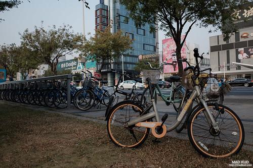 在台北差不多看不見的共享單車。