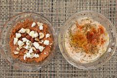 Homemade Muhammara and Hummus (Tom Ipri) Tags: canoneos5dmarkiv muhammara hummus diningin