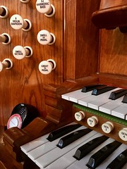 Organ Console and Metronome (John D McDonald) Tags: whitekeys blackkeys keys white black stopjamb jamb woodpanel woodwork wood electronicmetronome metronome acousticbass resultantbass harmonicbass violindiapason diapason swelltopedal swelloctave greattopedal couplers organstops drawstops stops thumbpistons pistons hillorgan churchorgan keyboards keyboard console organconsole organ technology flickrfriday tech technologie tecnologia 技术 tecnología teknologi tekniikka τεχνολογία technik belfast northernireland ni ulster geotagged iphone appleiphone iphone7plus appleiphone7plus stnicholasbelfast lisburnroad lisburnroadbelfast southbelfast buttons brown varnish williamhill williamhilandsons williamhillsons arthurhill arthurgeorgehill
