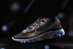 Nike React Element 87 - Dark Grey. (Andy @ Pang Ket Vui ( shootx2 )) Tags: d800 still life photography sneaker sneakerhead nike react element87 street hype bokeh blue