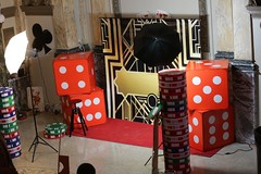 Harlem Nights Theme (DDG Events) Tags: birthday party theme ideas black white stripe red 50th ddgeventsthemedparties