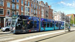 Commercial break 8 (Peter ( phonepics only) Eijkman) Tags: amsterdam city combino gvb advertise advertising reclame tram transport tramtracks trams trolley rail rails strassenbahn streetcars nederland netherlands nederlandse noordholland holland