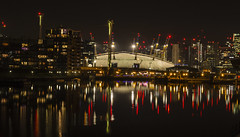 London East Docklands at night (Coolcats100) Tags: london sigma canon 70d night 2018 september o2 east docklands water city building