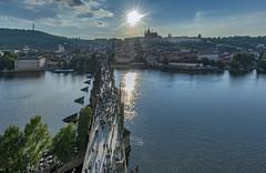 Prague from Old Town Bridge Tower (acase1968) Tags: czech republic nikon d500 tokina 1120mm f28 praha karluv most charles bridge old town tower staroměstská mostecká věž sunstar sun prague al case