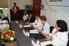 CELEBRAN FIRMA DE CONVENIO ENTRE AHF Y COESIDA CAPASITS OAXACA