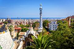 Barcelona landscape (Andreas Laimer) Tags: barcellona spagna sony colori panorami panorama guell parco terrazza gaudì nex6 catalogna contrasto mare cielo sonyflickraward ngc