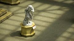 Ducking Down (dayman1776) Tags: sony a6000 beautiful nude sculpture escultura statue skulptur stone monument neoclassical greek roman history sunlight sunset atrium american court metropolitan museum art nyc new york city
