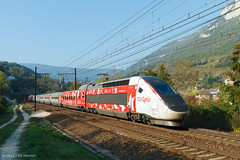 TGV Lyria Marseille-Genève (Delff DUMONT von WALTHER.u.CRONECK) Tags: tgv lyria train france railway eisnebahn bilder photo eisenbahnbilder trainspotting sncf montagne ain