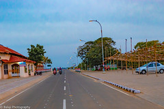 Convergence (Balaji Photography : 6 Million+ views) Tags: yellow roads roadtraffic roadways roadway karaikal beachroad