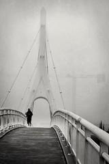 Niebla (bekumarnié) Tags: fog niebla runner city streetlife bridge mood atmosphere