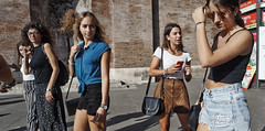 Line em up. (Baz 120) Tags: candid candidstreet candidportrait city street streetphotography streetportrait strangers sony a7 rome roma europe women urban life portrait people italy italia girl grittystreetphotography faces decisivemoment