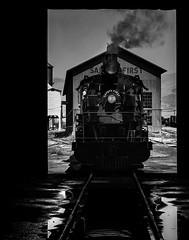 024693763838-104-Steam Locomotive-13 (Don't Mess With Jim) Tags: america ely nevada nevadanorthernrailwaymuseum southwest usa whitepinecounty history locomotive museum rail steam blackandwhite