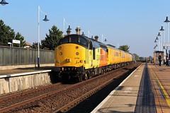 COLAS Rail 37116 - Mansfield (the mother '66' 66001) Tags: colasrail colas class 37 37025 37116 mansfield robinhoodline railways rail railfreight nottinghamshire 3z10 derby derbyrtc highmarnham highlandrail class37