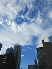 2018 October Cloud Strewn Sky NYC 2360 (Brechtbug) Tags: 2018 october cloud strewn sky nyc virtual clock tower from hells kitchen clinton near times square broadway new york city midtown manhattan 10112018 stormy weather building no hanging cumulonimbus blue cumulus nimbus fall hell s nemo southern view ny1