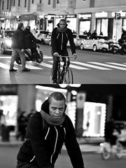 [La Mia Città][Pedala] (Urca) Tags: milano italia 2018 bicicletta pedalare ciclista bike bicycle nikondigitale scéta ritrattostradale portrait dittico biancoenero blackandwhite bn bw 115853