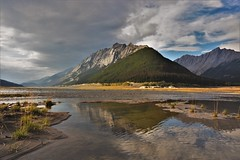 Mountain in the stream (Rudi Verspoor) Tags: jasper canada travel walking water stream mountains mountainscape mountain hillscape landscape nikon d7200 wideangle 1020mm goexplore exploring autumn fall