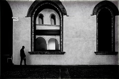 T i m e  I m m e m o r i a l (Gaia Rampon) Tags: thepathosofthings impermanence wistfulness inpraiseofshadows reflections windows mindfulness street streetphotography streetphotographer colorless colorblind bw bnw white black art history architecture milan