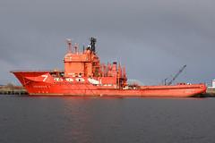 Rockwater 1 - Leith - 27-10-18 (MarkP51) Tags: rockwater1 portofleith leith scotland offshoresupplyvessel imo8211746 ship boat vessel nikon d7200 sunshine sunny maritimephotography nikon24120f4vr