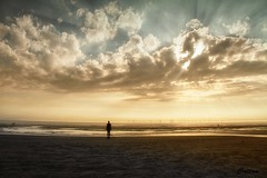 iron man, Crosby Beach, Liverpool (cattan2011) Tags: contemporaryart contemporary fineartphotography fineart beaches 英国 sunset clouds cloudscape waterscape seascape nationalpark travelphotography travelbloggers natureperfection naturelovers travel naturephotography nature landscapephotography landscape ironman crosbybeach liverpool england