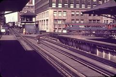 North Shore Loop Scene dupe slide (jsmatlak) Tags: chicago north shore line cta l elevated loop train electric railway interurban