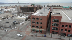 The View from Room 806 (joeldinda) Tags: downtown parkinglot street centralbusinessdistrict greatlakes hotel building lakemichigan pocketcam cybershot tc sonycybershot 3483 vacation sonydsch55 march dsch55 sony michigan traversecity parkplace 2017