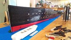 RMS Leinster Work in Progress 4 (LostCarPark) Tags: lego ship rmsleinster dazzlecamouflage