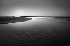 The End of the Journey (Rob Dweck) Tags: beach fog landscape longexposure oregon oregoncoast pacificocean sand water oregondunesnationalrecreationarea