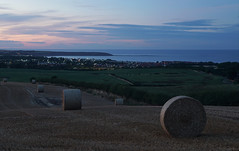 Twilight Bales, Filey (EmPhoto.) Tags: le longexposure emmiejgee landscapepassion uk sonya7rm2 eastriding yorkshire fileybay harvest bales bluehour