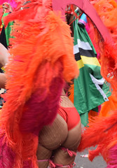 DSC_8416a Notting Hill Caribbean Carnival London Exotic Colourful Orange and Pink Costume with Ostrich Feather Headdress Girls Dancing Showgirl Performers Aug 27 2018 Stunning Ladies Delightful Fine Ass (photographer695) Tags: notting hill caribbean carnival london exotic colourful maroon orange pink costume with ostrich feather headdress girls dancing showgirl performers aug 27 2018 stunning ladies delightful fine ass