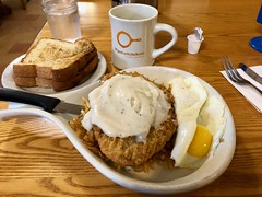 Chicken Fried Steak Breakfast Skillet (rabidscottsman) Tags: scotthendersonphotography breakfast themostimportantmealoftheday chickenfriedsteak whitegravy meal morning wednesday food foodporn foodblog breakfastskillet skillet fryingpan foodphotography beef chickenfried toast toastedbread whitetoast coffee coffeecup glassofwater table restaurant goingoutofbusiness napkin fork knife forkandknife cholesterol mn minnesota rochesterminnesota geotagged sunnysideup eggyolk iphone appleiphone iphone8 cellphonephotography socialmedia usa unitedstatesofamerica deepfried pannekoeken moocow exploreminnesota