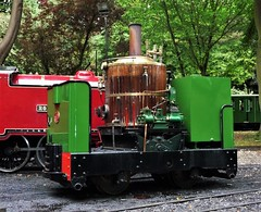 'Steamplex' vertical boilered converted Simplex locomotive (Martellotower) Tags: steamplex vertical boilered converted simplex locomotive scarborough miniature railway engineering