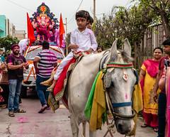 Ganesh Chathurthy Celebrations (Balaji Photography : 6 Million+ views) Tags: ganesha ganeshchathurthy festival festivalsofindia devotion festivity procession horse canon utharakhand pantnagar rudrapure