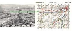 1950 Carmarthen llansteffan (Dskies) Tags: aerial photograph carmarthen down llansteffan with ordnance survey map area