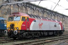 57304 'GORDON TRACY' 02-2012 (Cumberland Patriot) Tags: virgin west coast trains brush type five class 57 573 57304 gordon tracy thunderbird diesel loco locomotive 47807 47652 47055 d1639 1639 wcml main line sc diversions drag