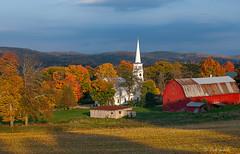Glorious light (robert_golub) Tags: sunset autumn fall barn vermont peacham